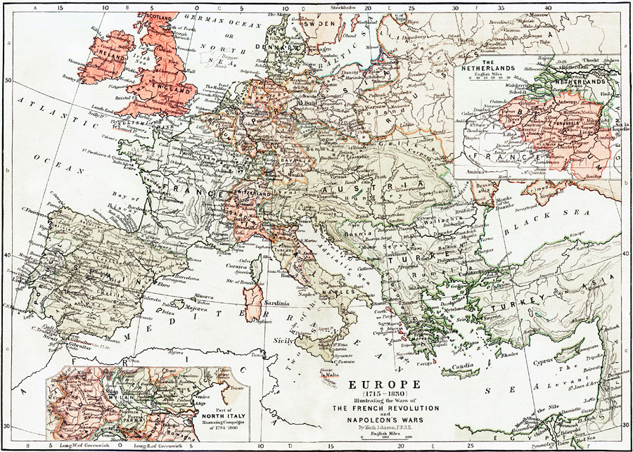 Map Of Europe France.Europe Illustrating The Wars Of The French Revolution And Napoleon S