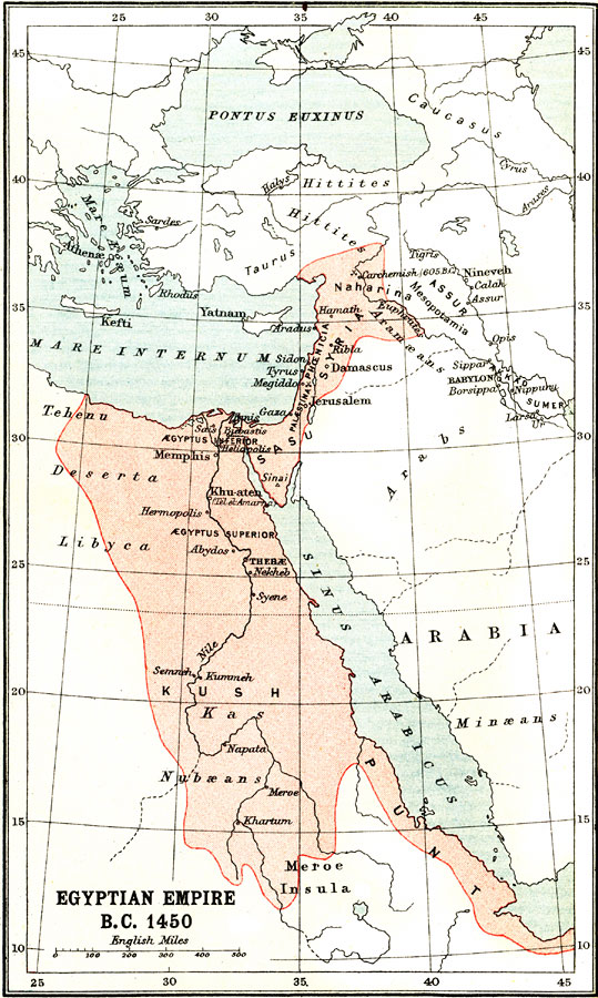Jpg - Map of egypt in 1450 bc