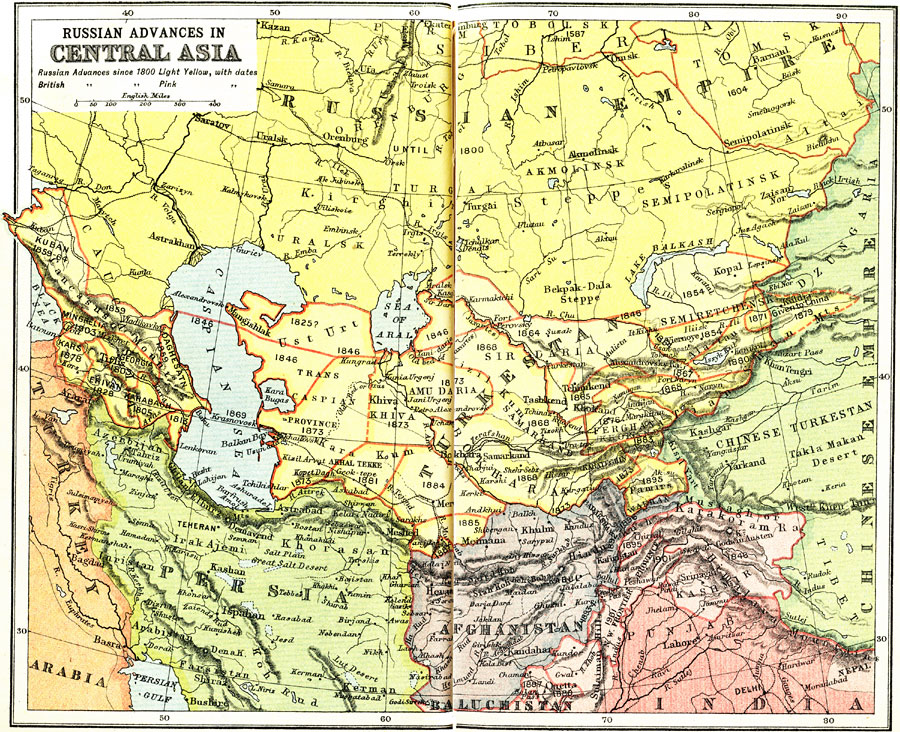 Russian and British Expansion in Central Asia