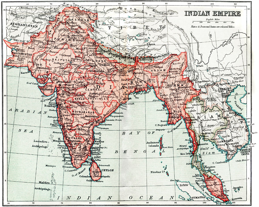Indian Empire, 1912