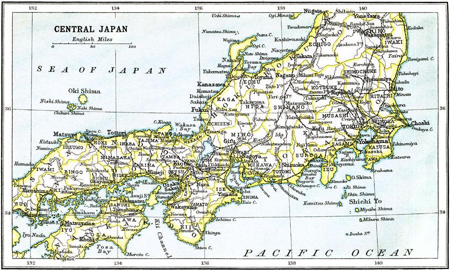 Jpg - Japan map honshu