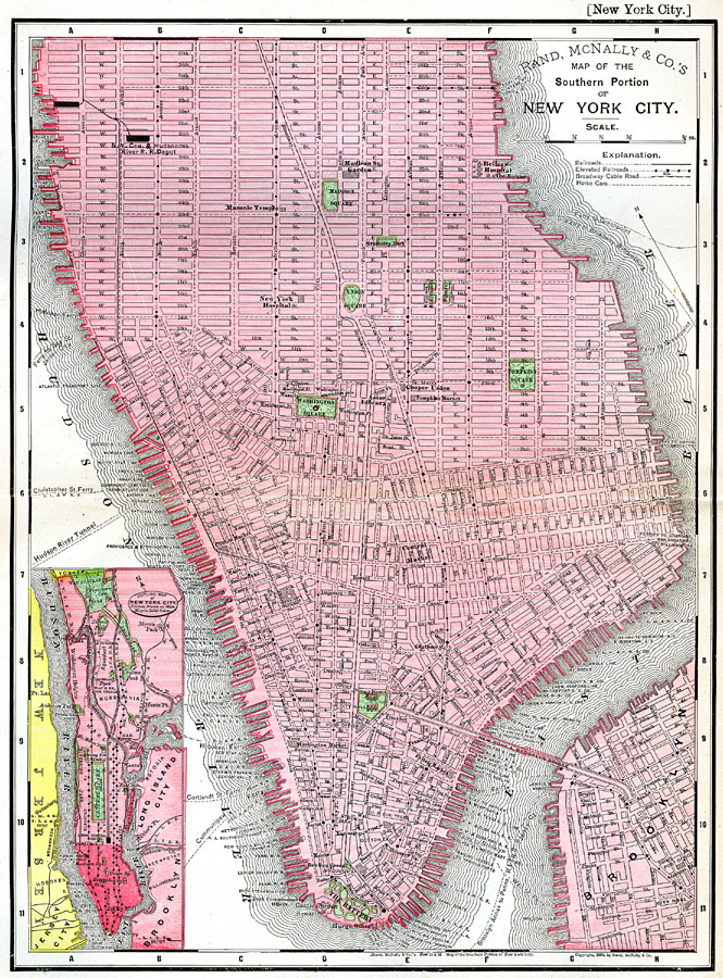 Map Of Southern New York.Southern Portion Of New York City