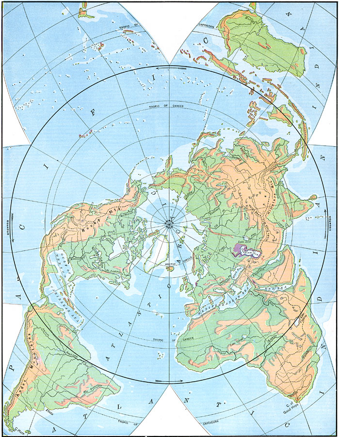 Star shaped map of the earth with polar projection gumiabroncs Gallery