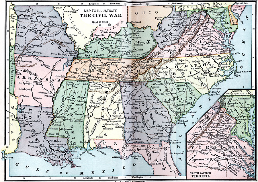 blank civil war map - photo #37