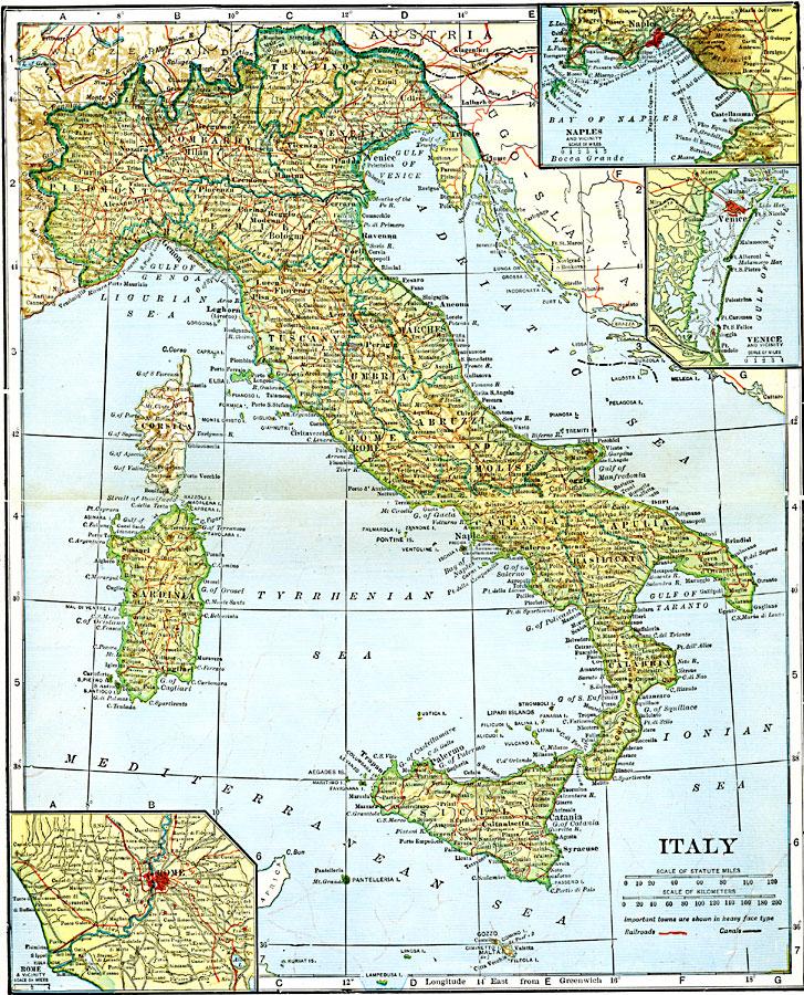 Italy Map 1500.Italy