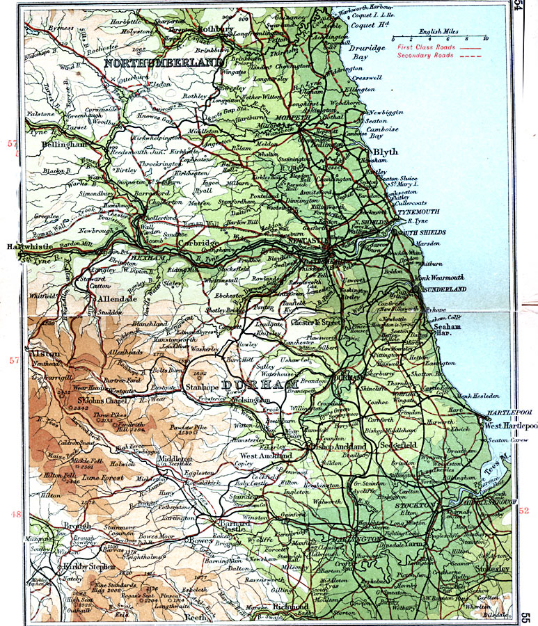 Page Map Site: Durham And Newcastle