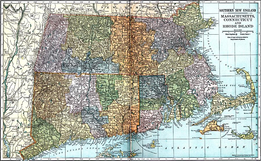 Massachusetts Connecticut And Rhode Island