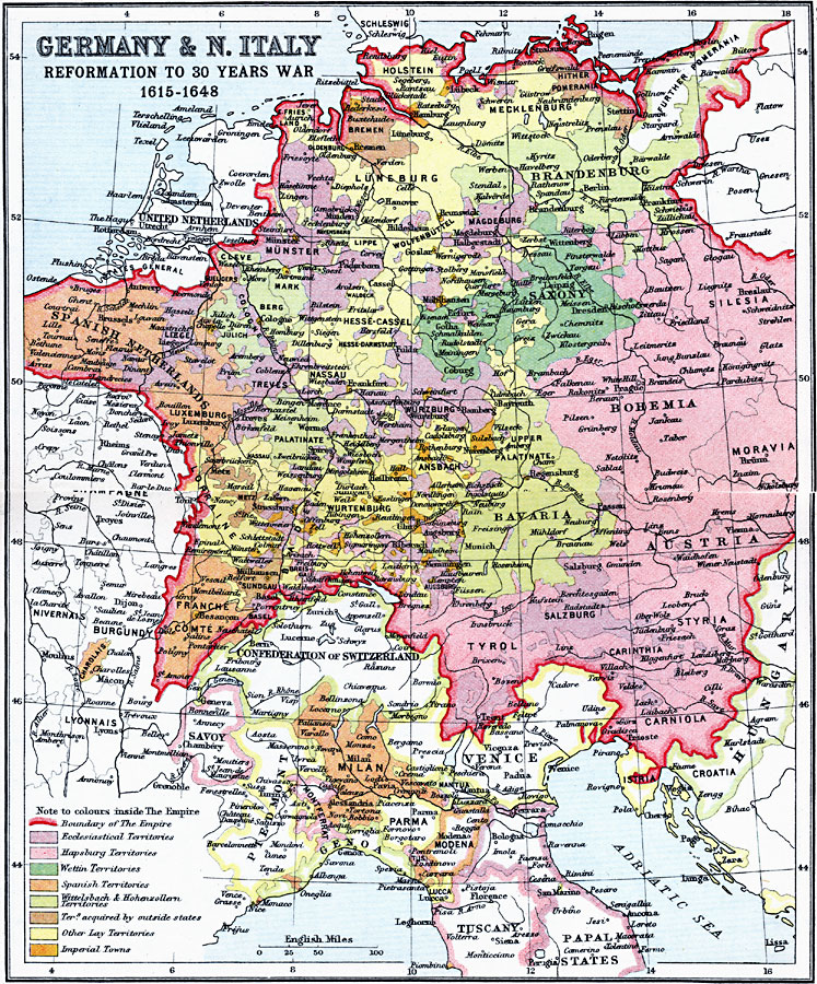 Jpg - Map germany thirty years war