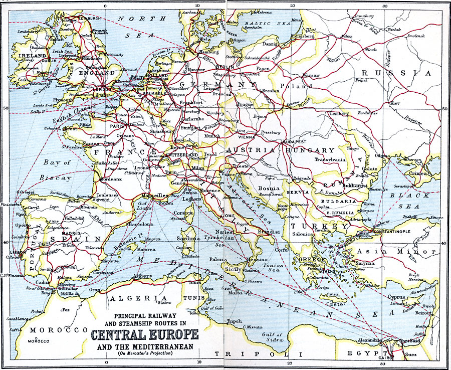 Railway Europe Map