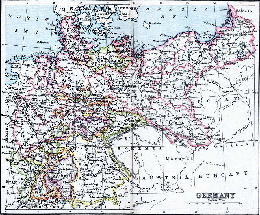 Map Of Germany 1900.Germany
