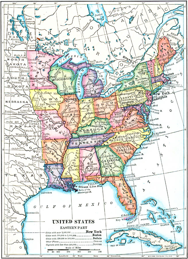 Map of Eastern United States Printable Interstates ...