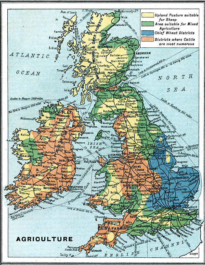 British Isles Physical Map British Isles Agriculture