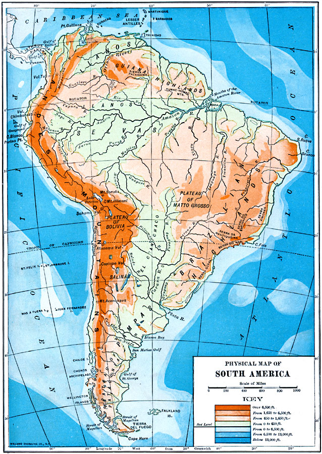 Jpg - Physical map of argentina