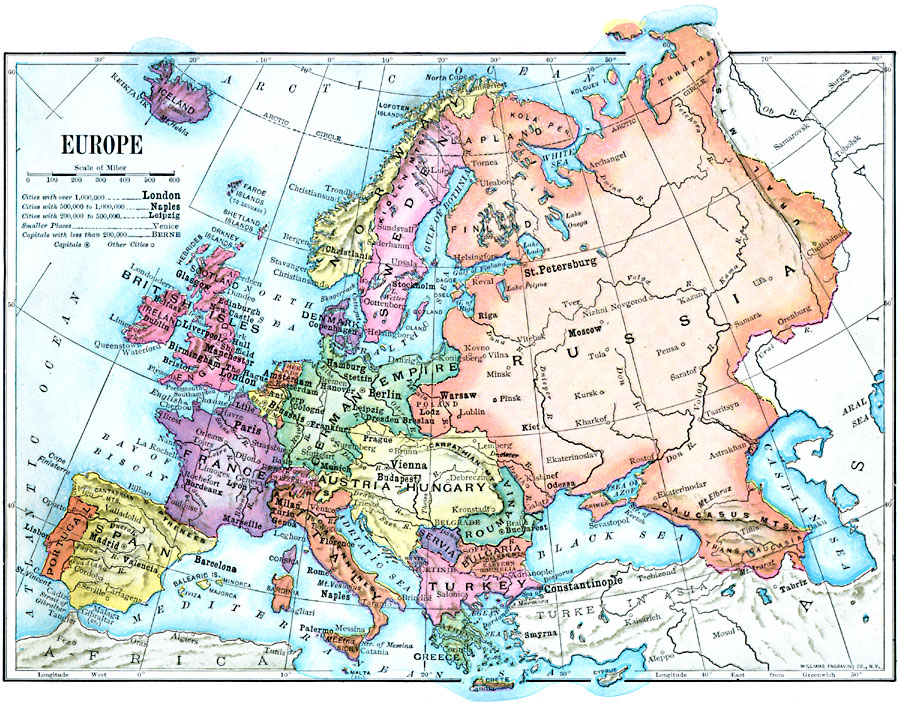 Map Of Europe 1910 Europe in 1910