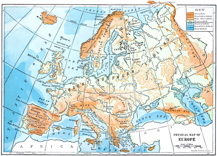 Jpg - Europe physical map