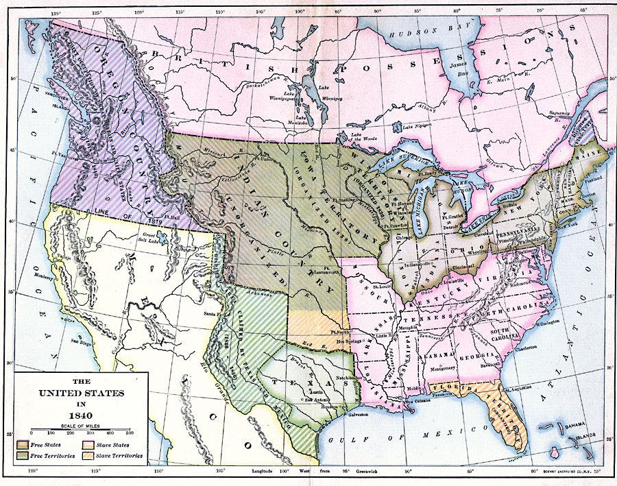 Map, 1840 to 1849, United States | Library of Congress