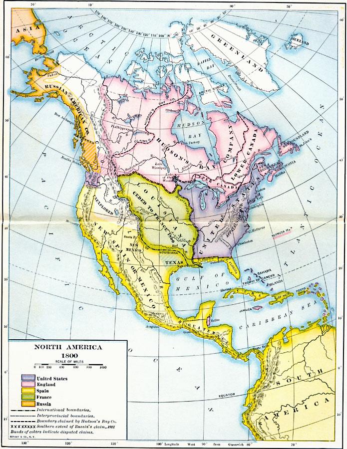 Map Of England 1800.North America