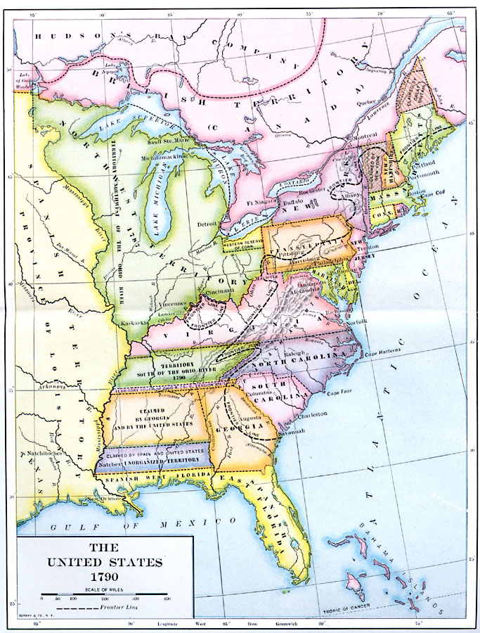 Jpg - The us map 1790
