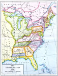 Maps Of United States Early America - Map of us in 1790