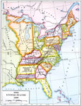 a map of the united states in 1800 showing the territorial claims of the states at the time the british and french possessions and territory disputes