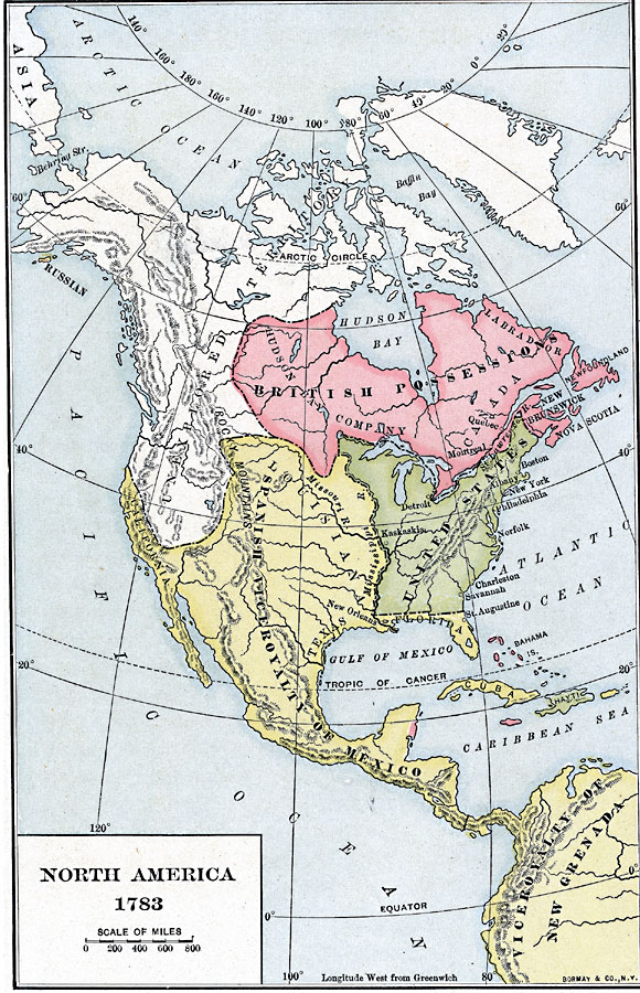 2403: North America 1783 Map At Infoasik.co