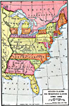 A Map Of The United States East Of The Mississippi River Showing The State Claims Between 1783 1802 The Map Shows The Western Territorial Boundary