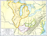 A Map Of The Territory East Of The Mississippi River And West Of The Allegheny Mountains Showing The Proposed Western Colonies From 1763 1775