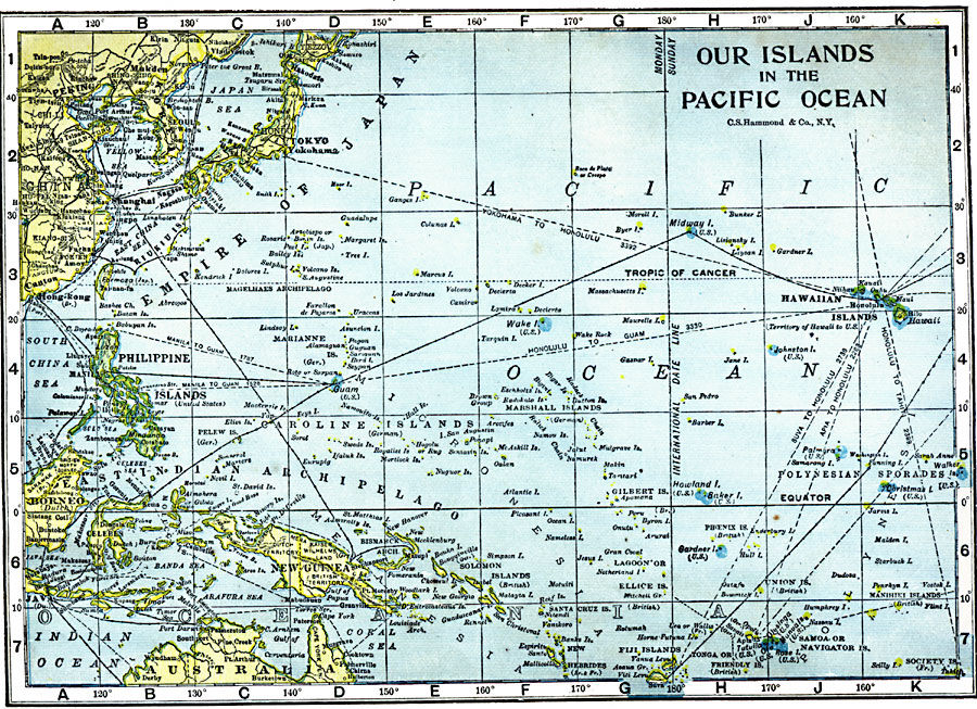 pacific ocean map with islands - photo #46