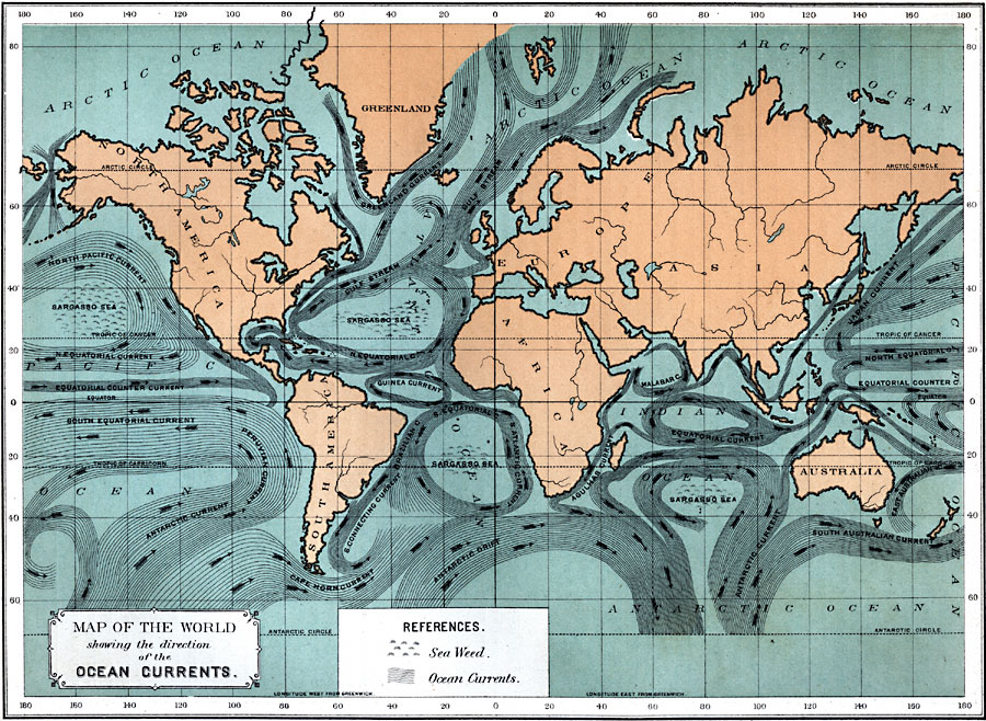 2609g map of the world showing the direction of the ocean currents gumiabroncs Choice Image
