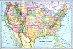 Maps Of United States Complete Maps - Us map with rivers and mountains