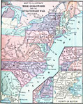 A Map Of The Thirteen Colonies During The American Revolution The Map Shows The Territorial Claims West Of The Allegheny Mountains And Includes Inset Maps