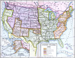 Maps Of United States Complete Maps - Map of the us in 1890