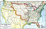 the united states 1821 a map of the united states and territories showing the westward expansion after the missouri compromise 1820 and the admission of