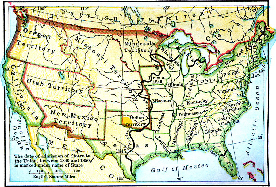 The United States In 1850