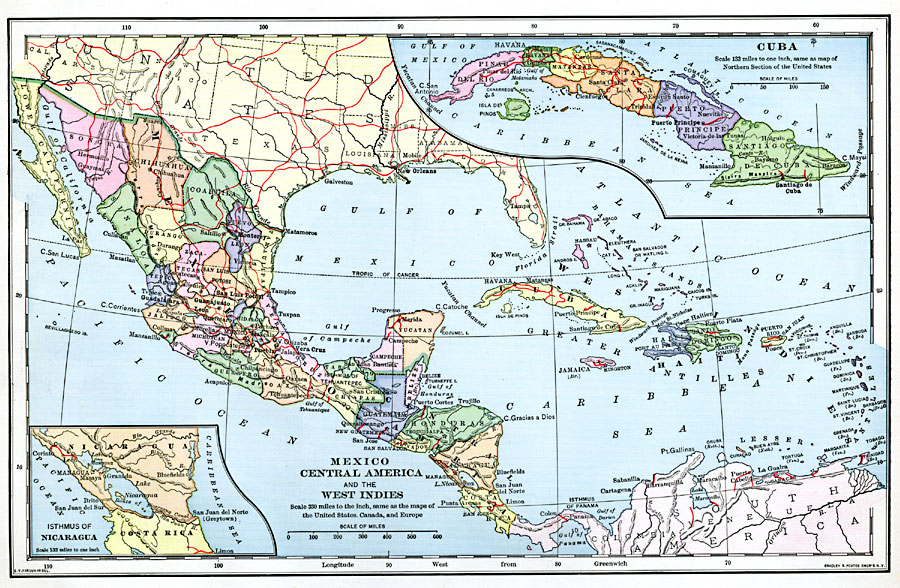 Mexico Central America And The West Indies