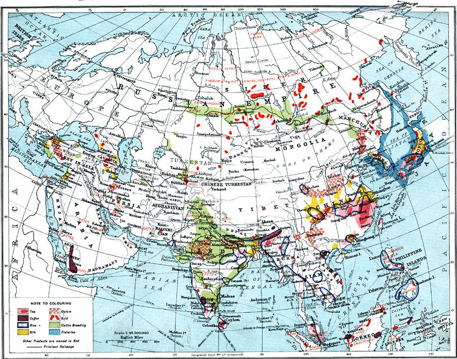 Economic Map of Asia