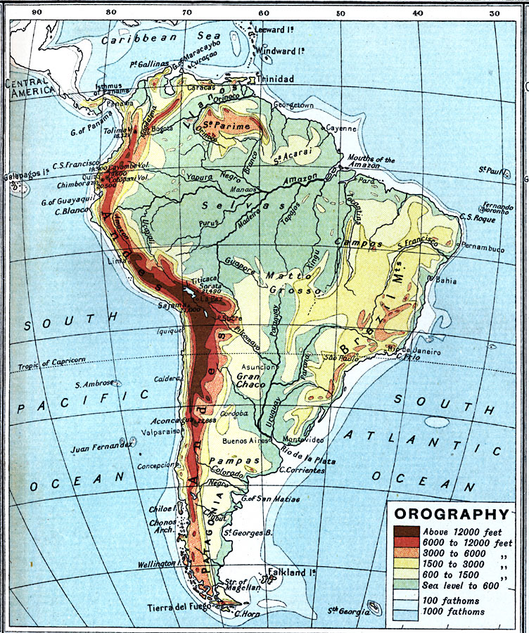 381: South America Map Elevation At Codeve.org
