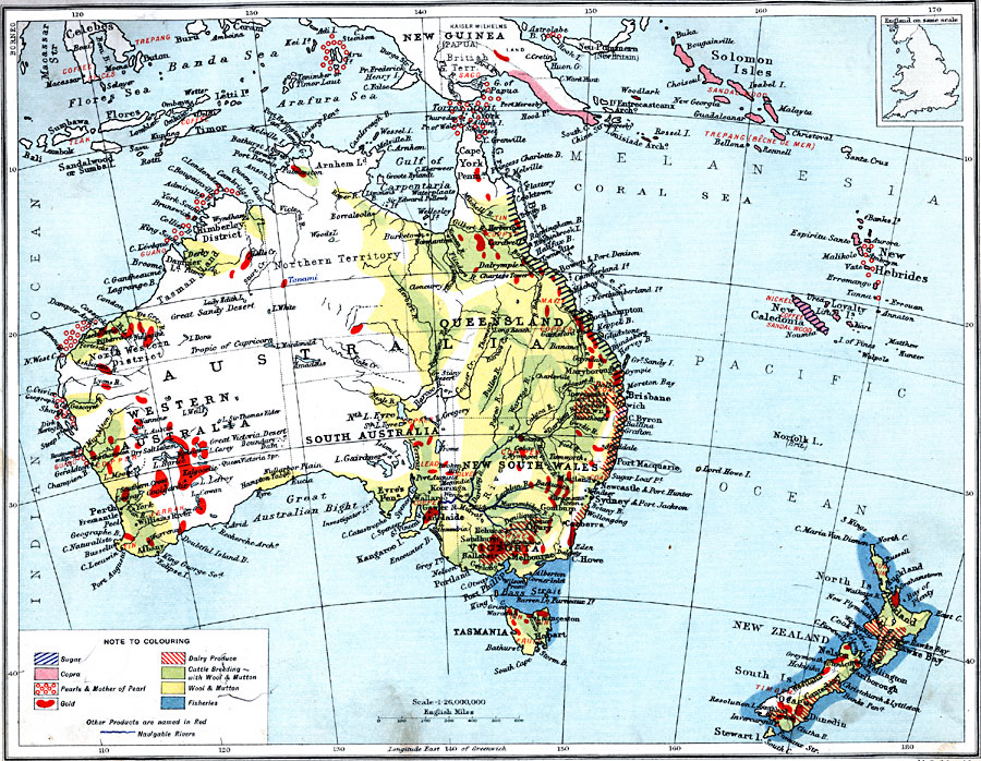 economic map of australia