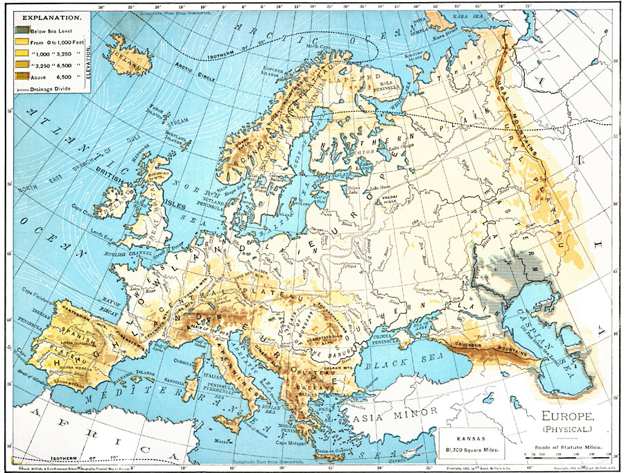 Europe river map