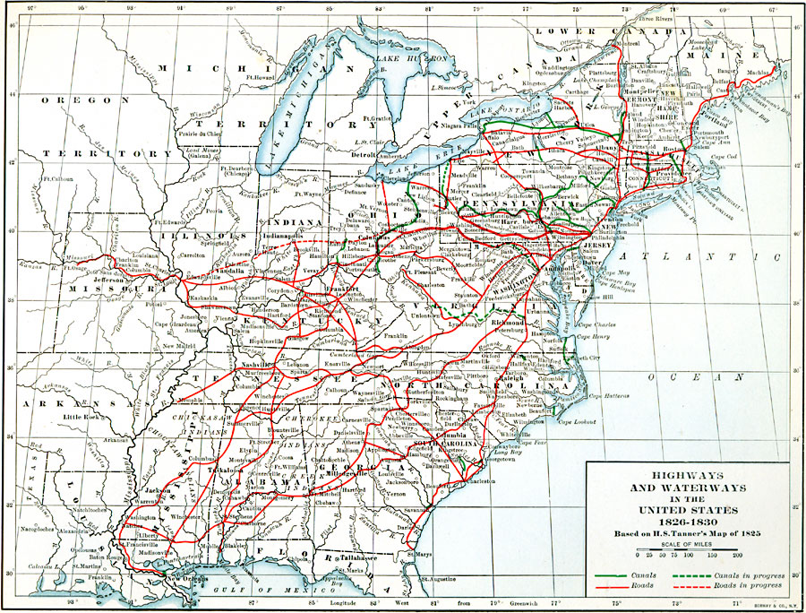 highways and waterways in the united states