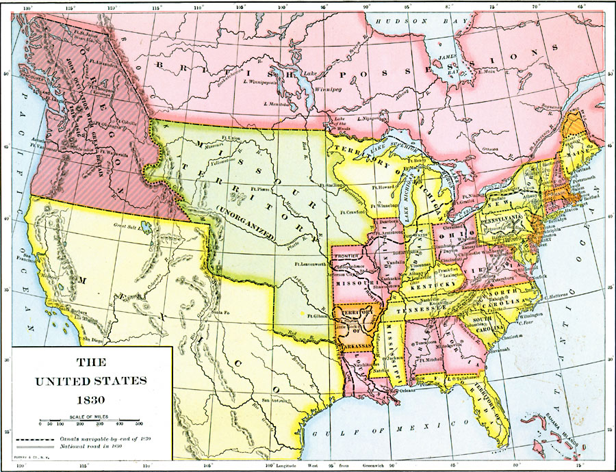Jpg - Map of us territories in 1830
