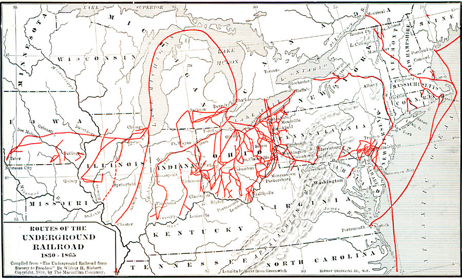 Routes of the Underground Railroad on map of virginia in 1825, map of virginia historical sites, map of virginia ohio, map of virginia in 1850, map of virginia in 1860, map of virginia in 1822, map of virginia va,