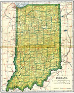 Indiana State Map With Cities And Towns.Maps Of United States Indiana