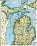 Maps Of United States Michigan - Michigan map with cities and counties