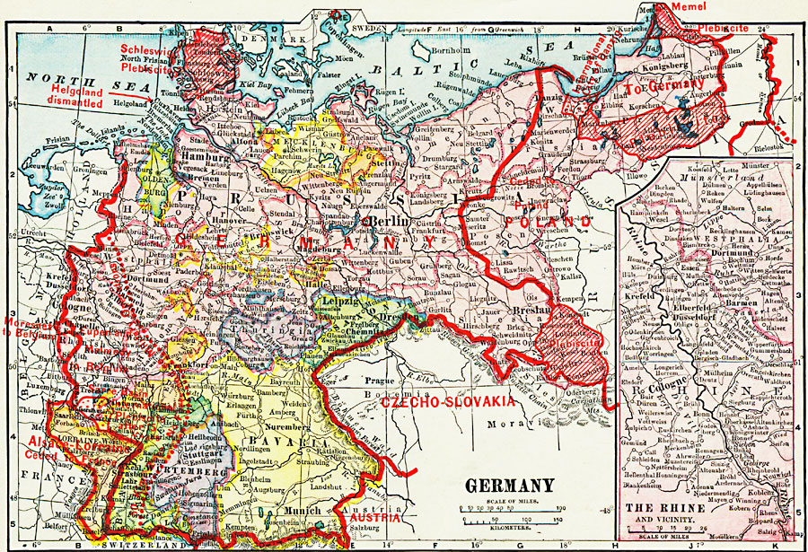 Map Of Germany In 1914.Germany