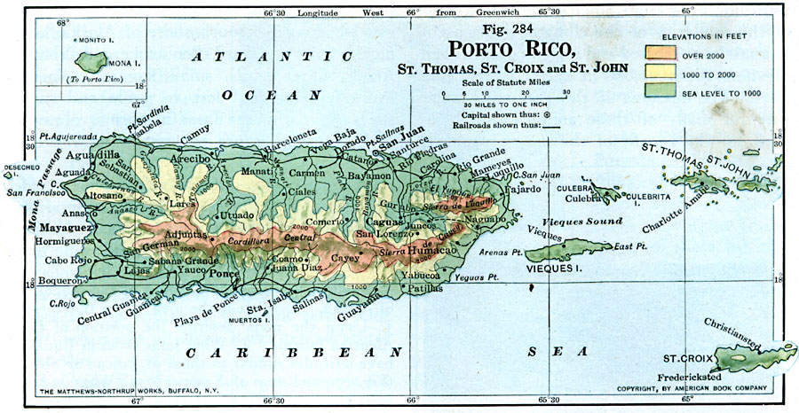 the island of puerto rico map Puerto Rico And Neighboring Islands the island of puerto rico map