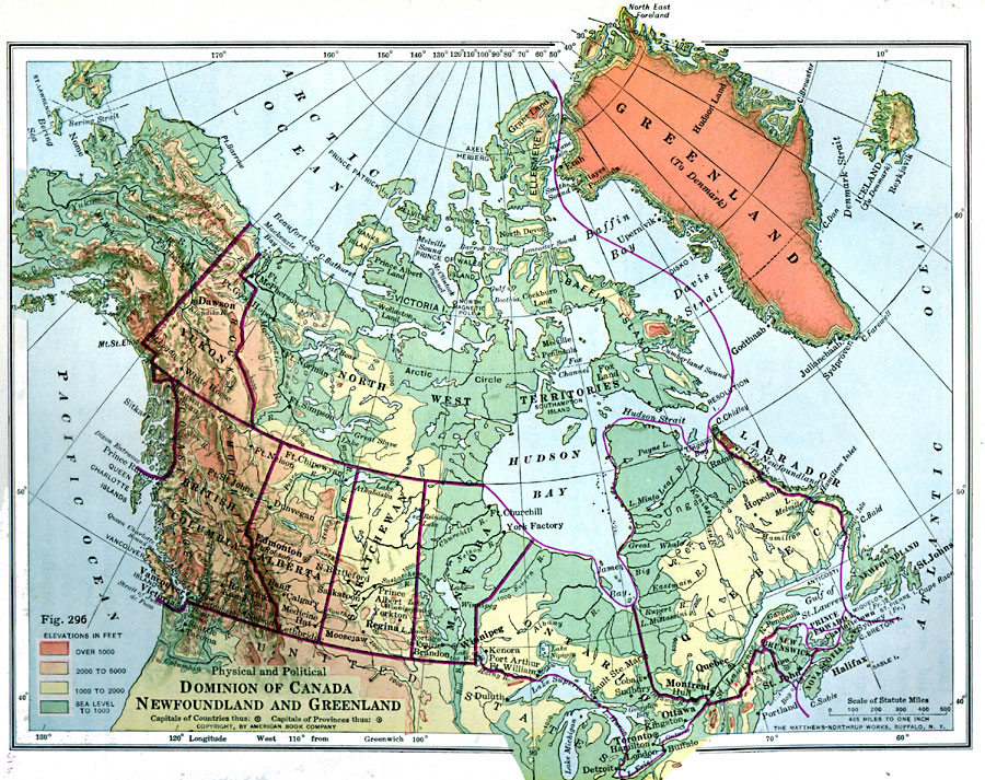 Map Of Canada Greenland And Iceland.Dominion Of Canada Newfoundland And Greenland