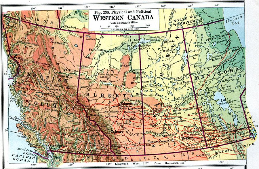 Jpg - Canada physical map