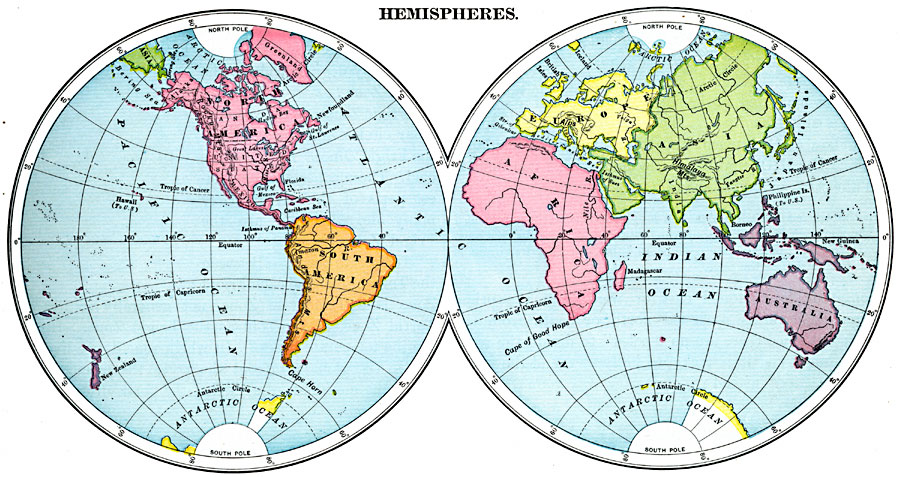 East West World Hemispheres