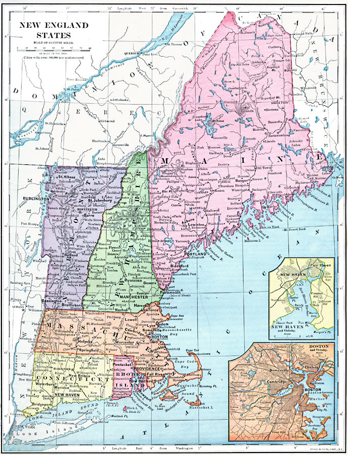 maps of new england states london map